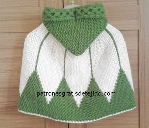 Capa Tejida con Dos Agujas / Paso a paso   Crochet y Dos agujas ...