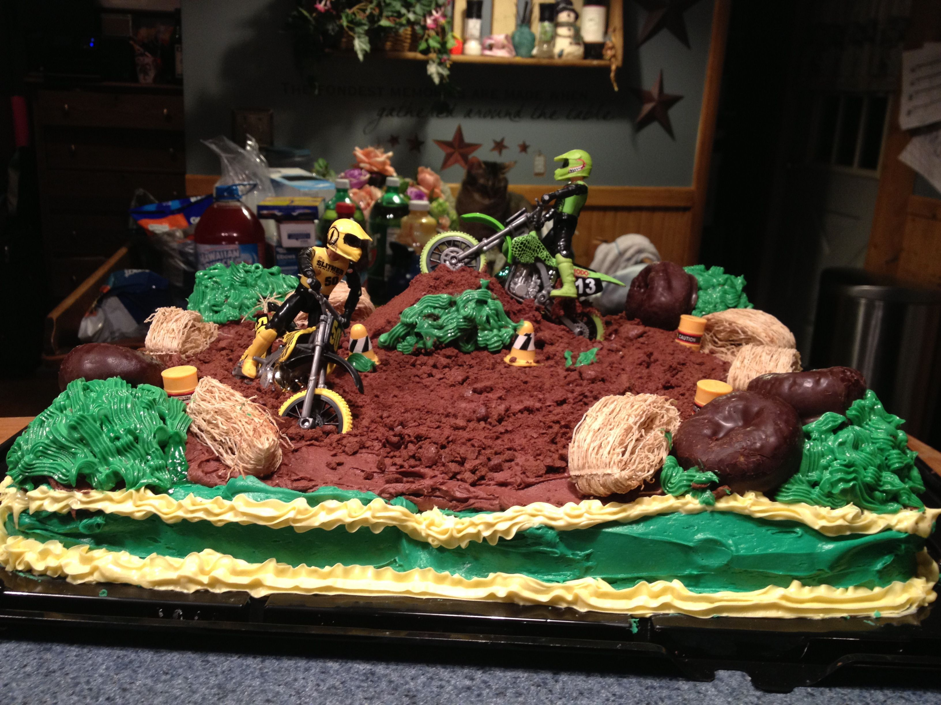 Dirt Bike Cake Dirt Bike Birthday Dirt Bike Cakes Motocross Cake