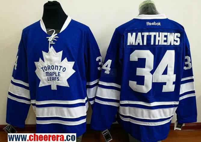 Men s Toronto Maple Leafs  34 Auston Matthews Blue Third Stitched NHL  Reebok Hockey Jersey 11bbce5e6