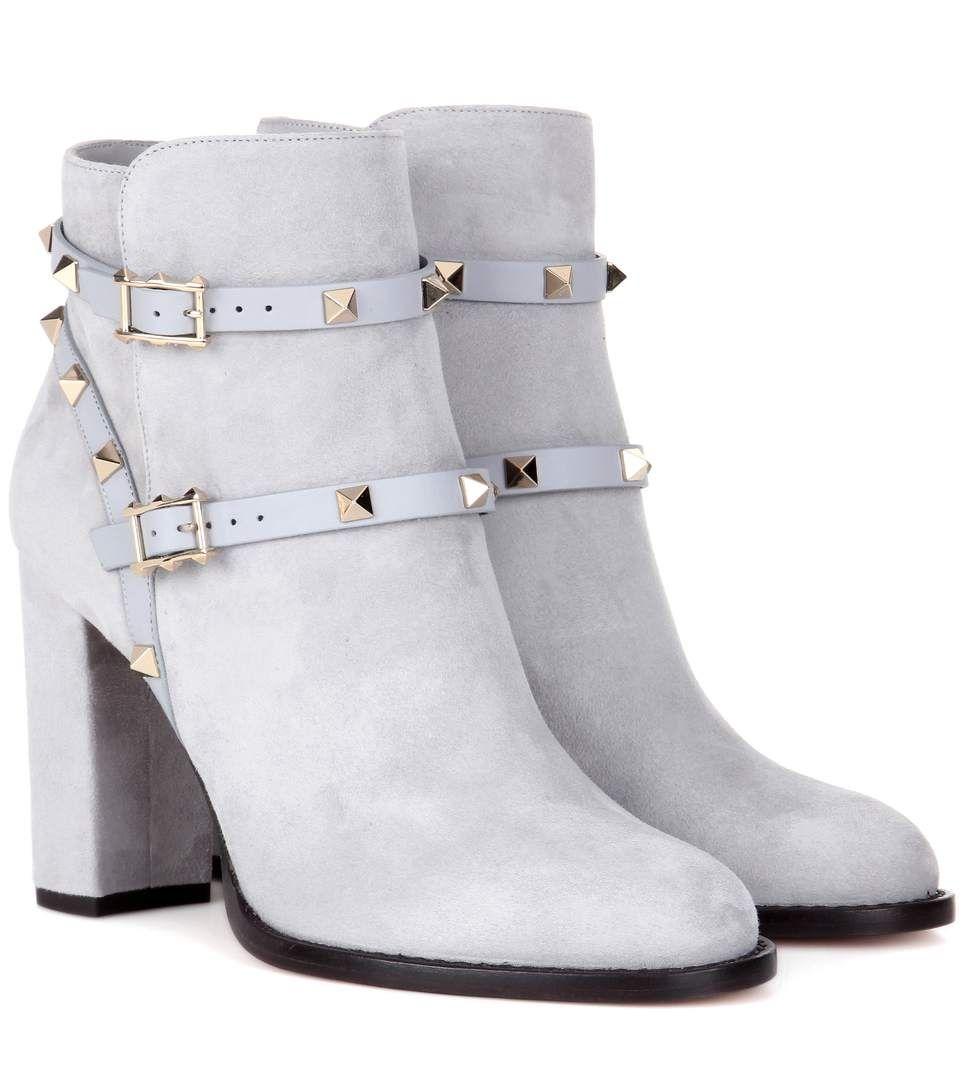 Valentino Garavani Rockstud boots - Grey Valentino Of0BoG