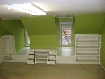 Bedroom Dormer Built-ins - traditional - bedroom - atlanta ...