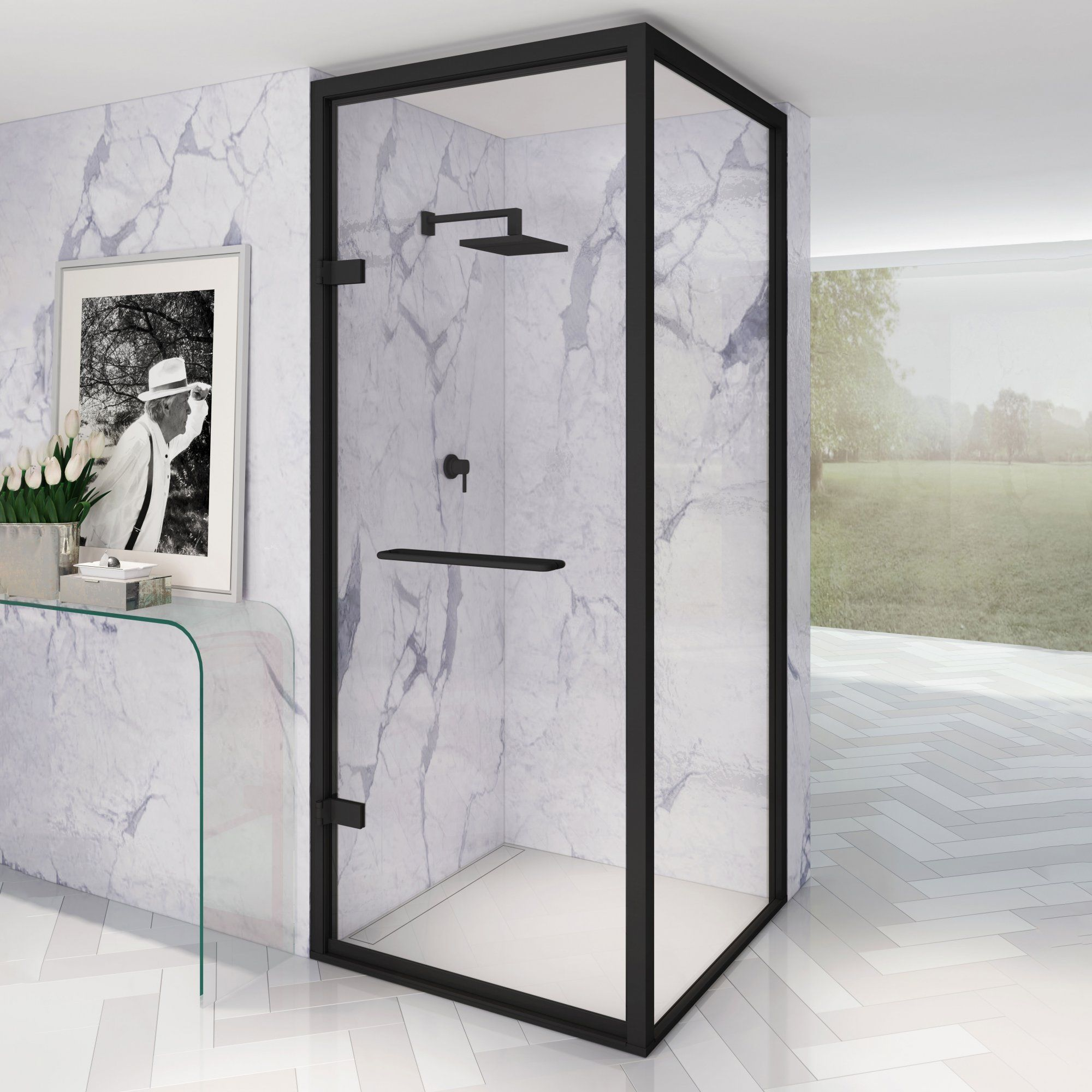 A Rule Breaker When First Launched In 1968 Unmatched In Beauty And Function Constance Allows For The D In 2020 Framed Shower Enclosures Framed Shower Shower Enclosure