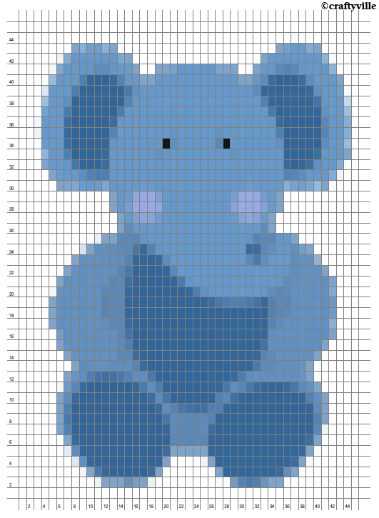 Elephant Knit Chart Cross Stitch Patterns Cross Stitch