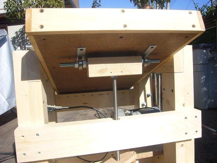 shop built drum sander plans   Thickness Sander   Drum Sander Plans & Ideas
