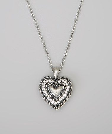3da543e90ba Take a look at this Silver Southwest Filigree Heart Pendant Necklace by  Accessories West Imports on #zulily today!