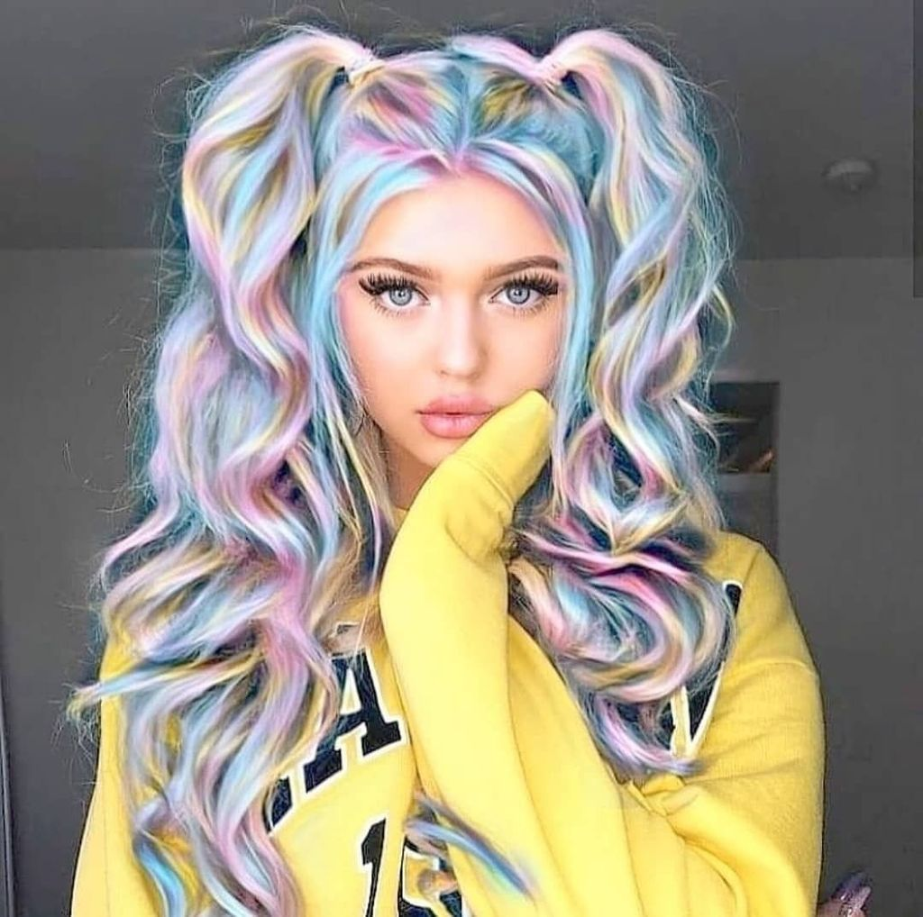 I Began Coloring My Hair At 13 Years Old I Was Exhausted With My Boring Hair Color And Being A Tie Dye Hair Hair Styles Unicorn Hair Color