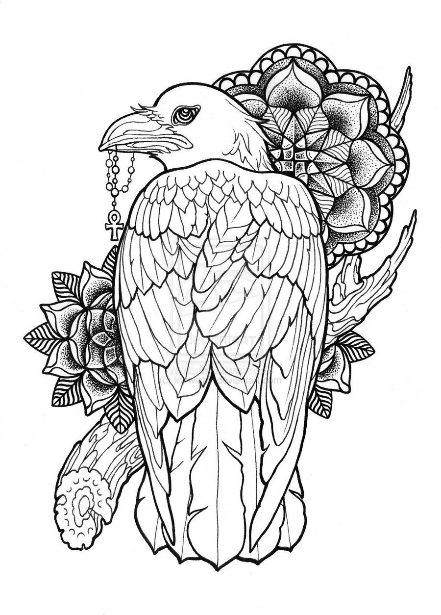 Neo Traditional Drawings Google Search Neo Traditional Tattoo Tattoos Traditional Tattoo Raven