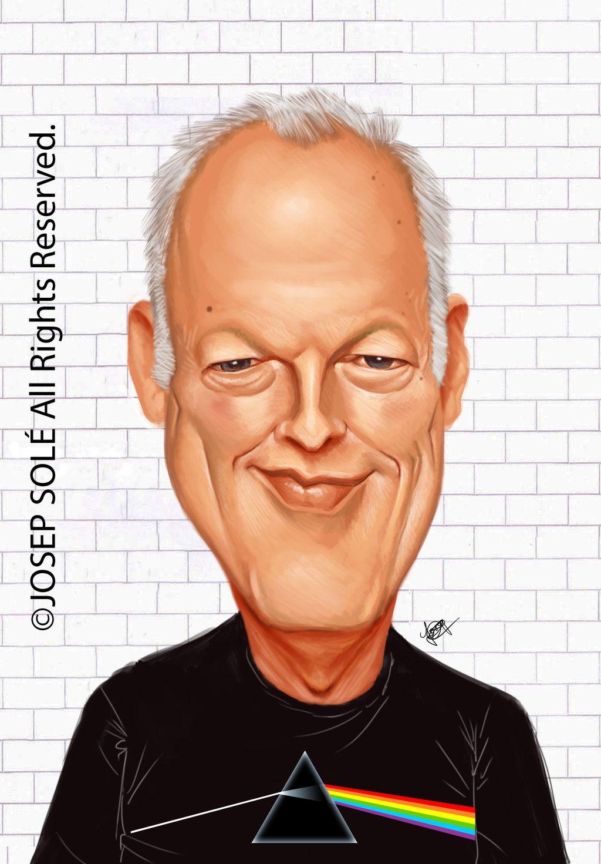 Resultado de imagem para david gilmour caricature