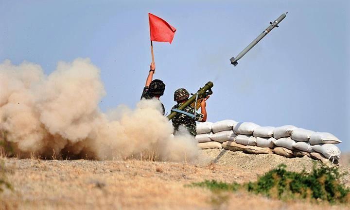 A Macedonian soldier fires the 9K38 IGLA MANPADS.