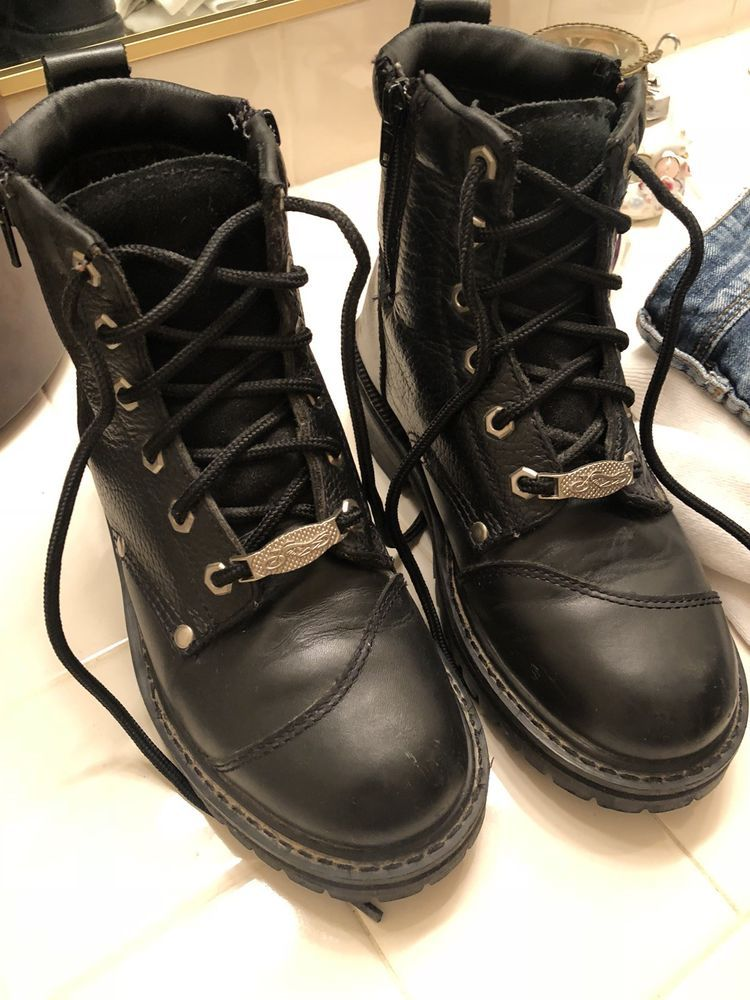 c673be645d97 Womens harley davidson motorcycle boots size 8
