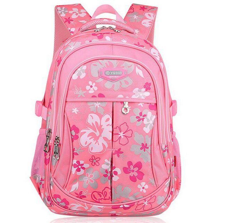 Red Flower Shoulder Backpack Messenger Crossbody Laptop Bag Student Bookbags for Kid Girls Boys