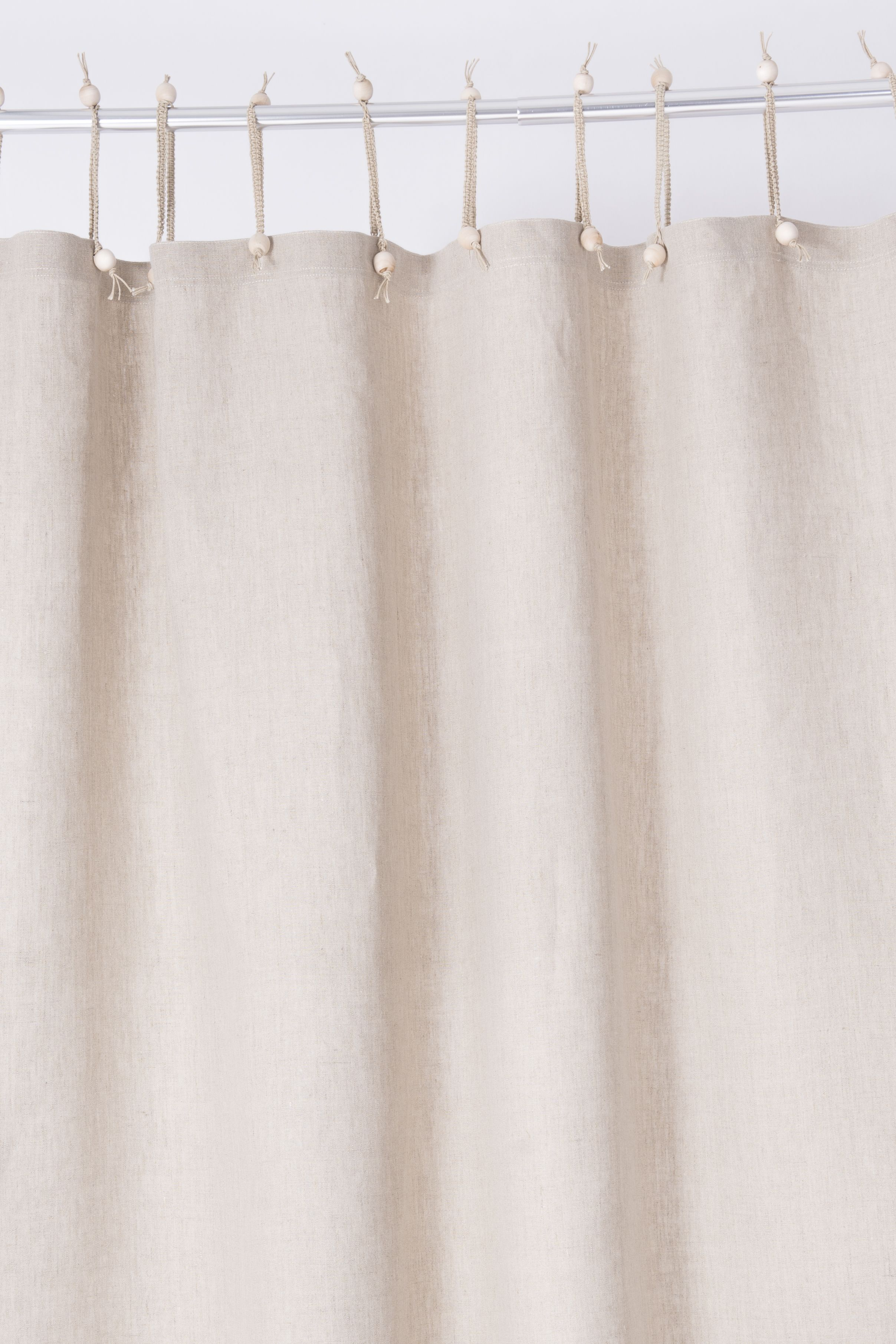 These Undyed Hemp Shower Curtains Are Naturally Elegant In Their