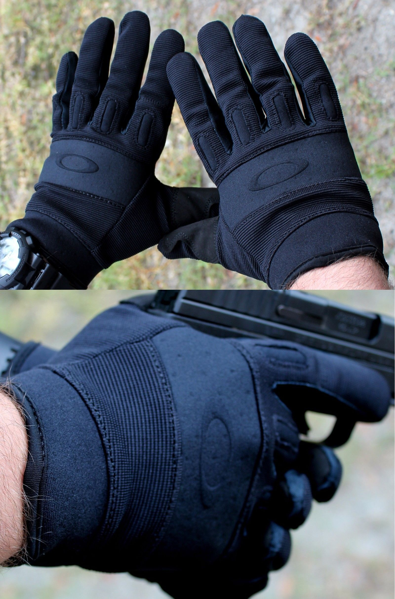 cdd49b4111ddfc Tactical Gloves 177898  Oakley Si Standard Issue Lightweight Men S Black  Shooting Range Tactical Gloves