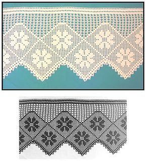 Uncinetto e crochet raccolta schemi all 39 uncinetto filet for Lavori all uncinetto per altari