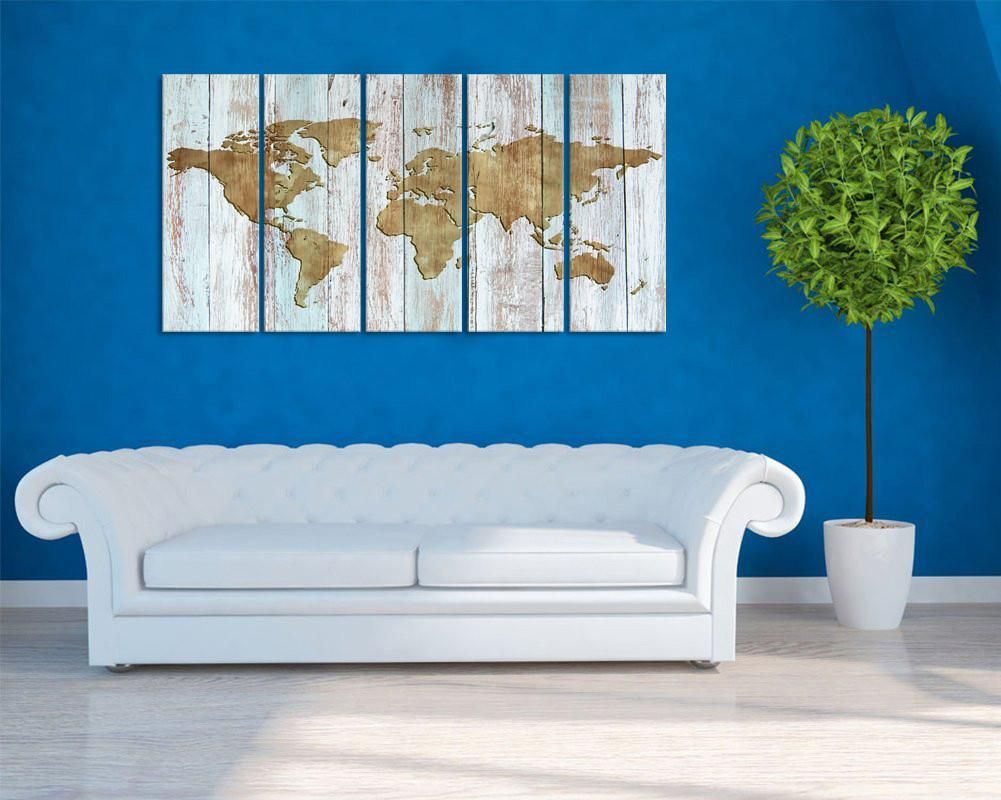 Vertical world map canvas print 32 x 60 five panel framed wall vertical world map canvas print 32 x 60 five panel framed gumiabroncs Choice Image