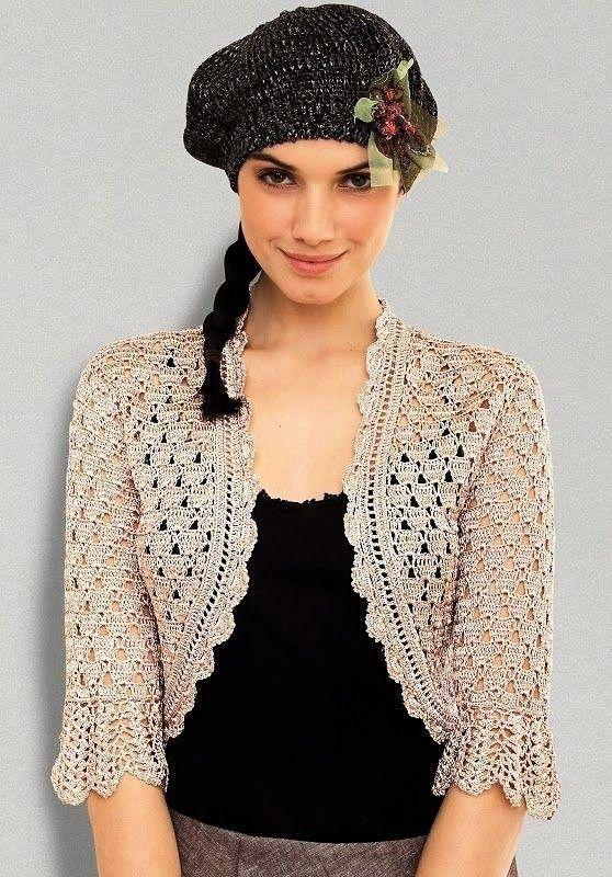 Bolero Örgü Modelleri | Crochet top | Pinterest