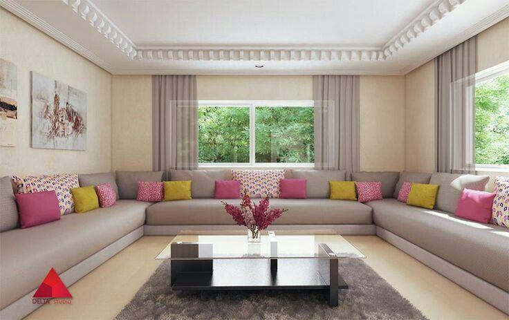 Salon marocain moderne | Intérieurs salons | Moroccan decor, Room ...