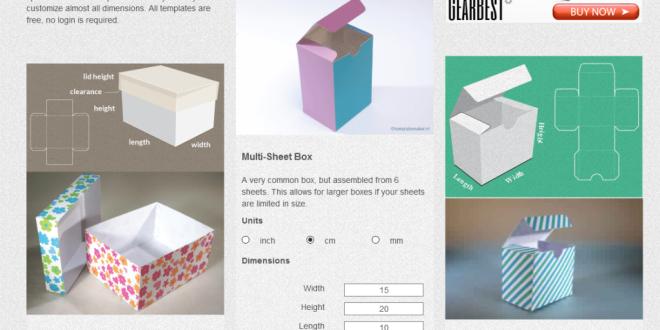 كيفية تصميم علب الهدايا بسهولة في المنزل Custom Templates Sheets