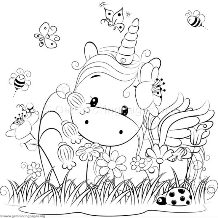 Cute Unicorn 3 Coloring Pages GetColoringPages