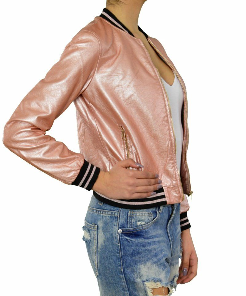 579cba57dc35 Γυναικείο μπουφάν ροζ μεταλλιζέ | Για αγορά πατήστε πάνω στην εικόνα ...