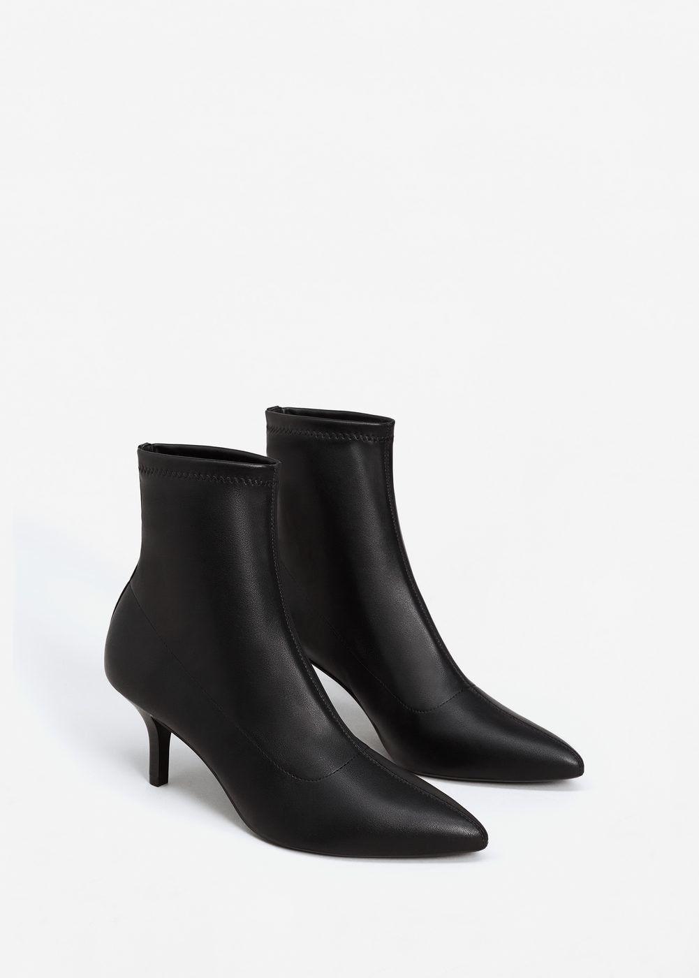0bd3ddaccd2 Botín tacón punta - Mujer en 2019 | mango | Zapatos, Looks con ...