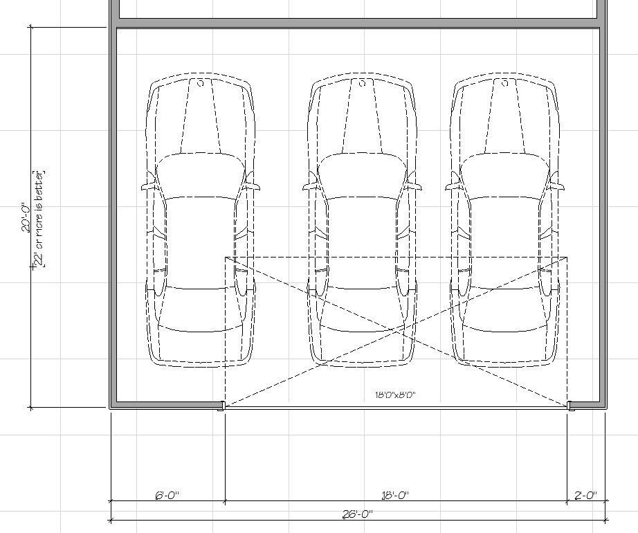 3 Car Garage Dimensions Garage Dimensions Carport Modern Carport