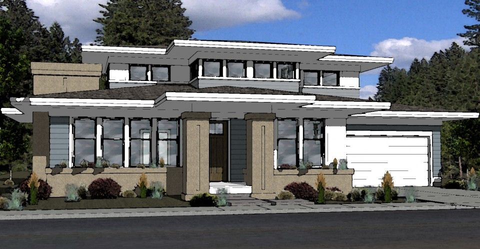 Prairie Style House Plan - Bend, Oregon | houses to build ...