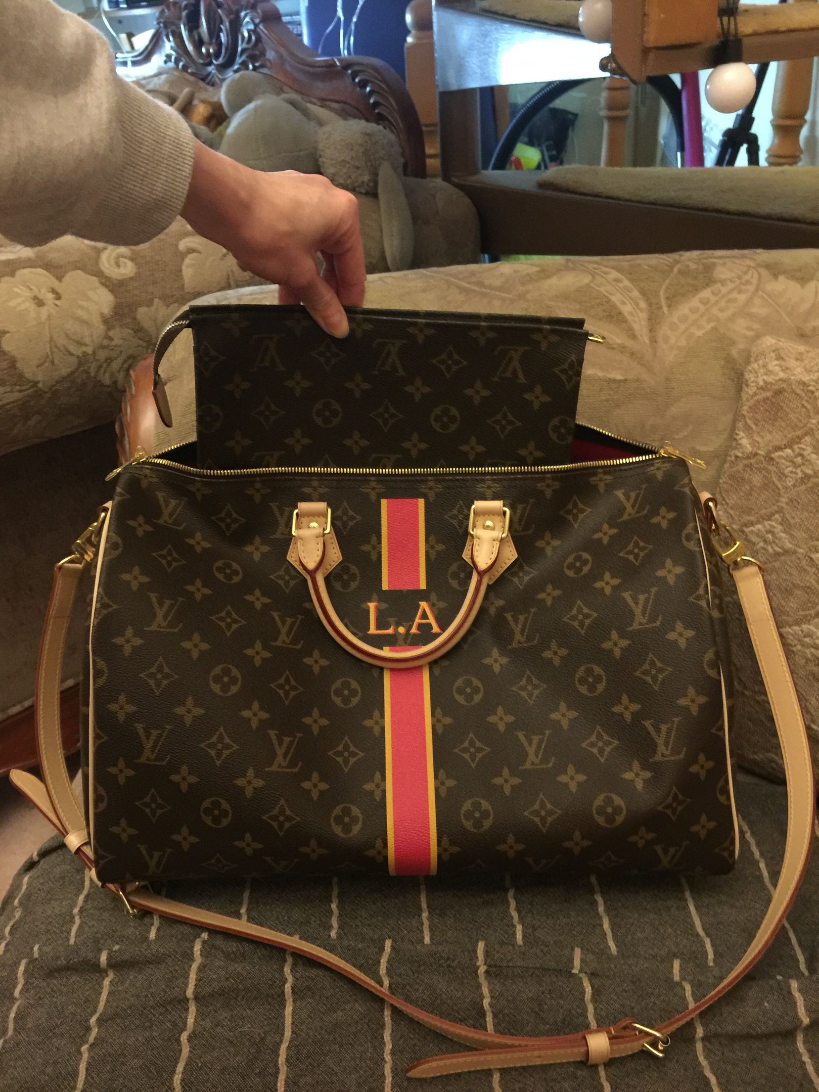 c20049b72 Louis Vuitton Speedy 40 Bandouliere bag and Toiletry pouch 26 ...