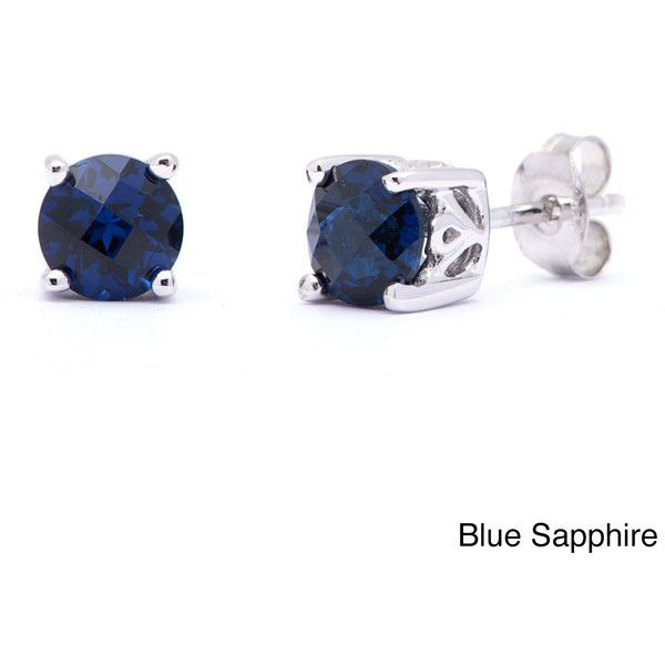Oravo Sterling Silver Round-cut Gemstone Earrings ($30) ❤ liked on Polyvore featuring jewelry, earrings, blue, round earrings, sterling silver earrings, butterfly earrings, blue earrings and blue butterfly earrings