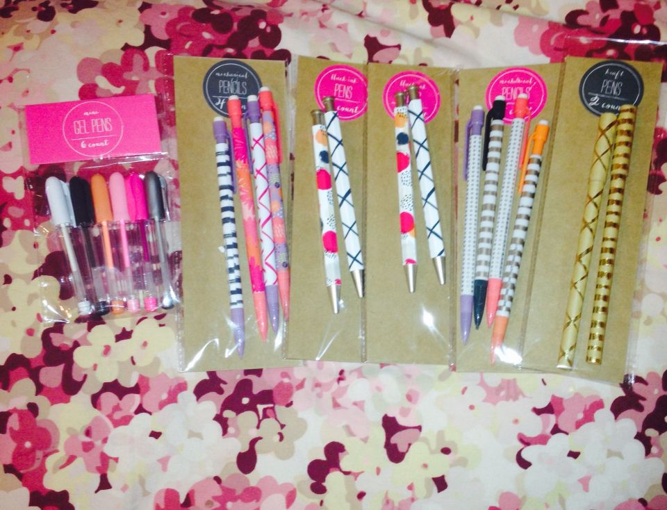 Target DOLLAR SPOT haul Pens, mechanical pencils and mini gel pens ...