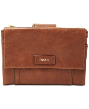 Fossil Ellis Multifunction Leather Wallet - Brown