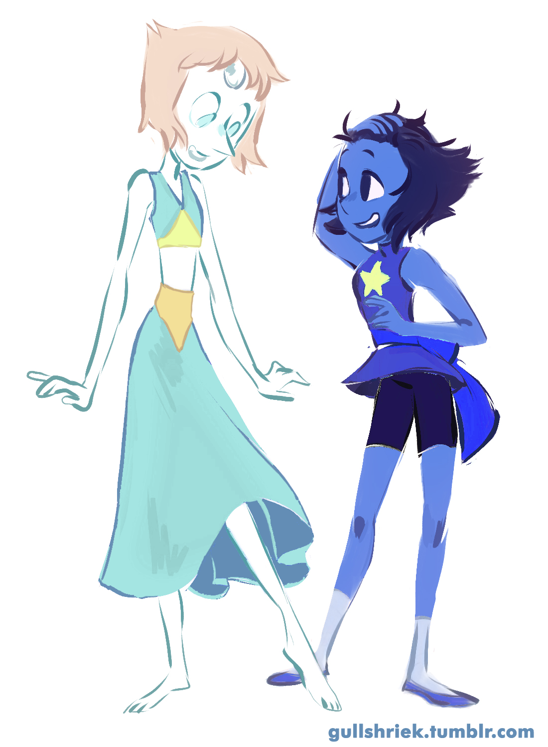 Steven Universe Pearl And Lapis Lazuli Clothes Swap