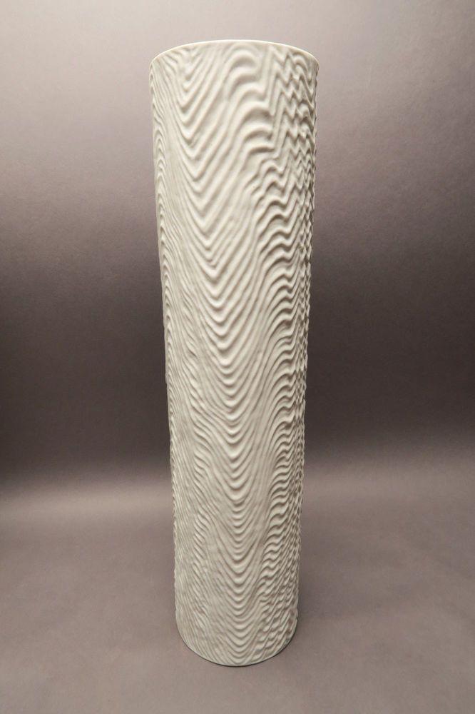 Rosenthal Vase Weiss Matt Bisquit 2023 Martin Freyer Ca 39 7 Cm Hoch