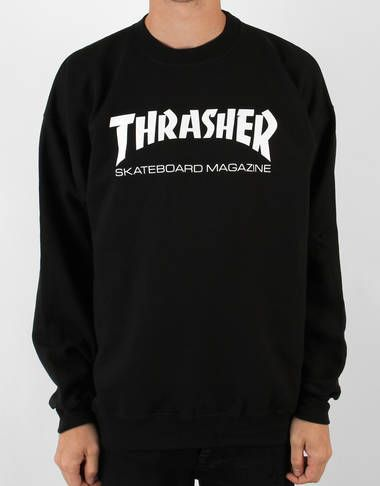 992a1721238 Thrasher Skate Mag Crewneck Sweat - Black - RouteOne.co.uk