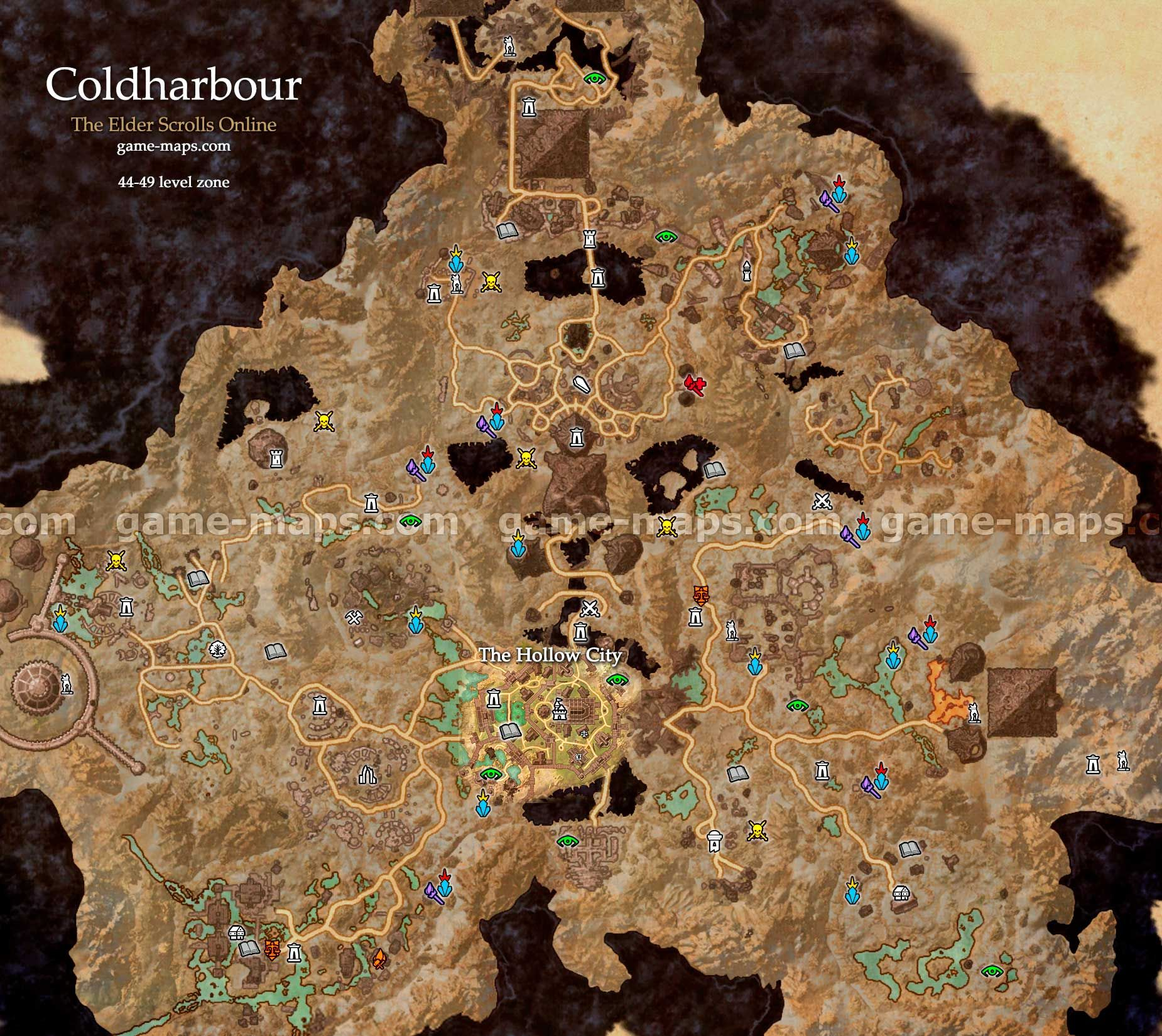 Coldharbour zone map the hollow city coldharbour is the plane of coldharbour zone map the hollow city coldharbour is the plane of oblivion that is gumiabroncs Choice Image