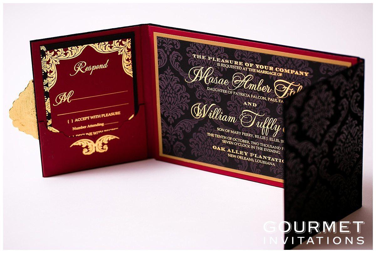Velvet Wedding Invitations | Pinterest | Wedding invitation cards ...