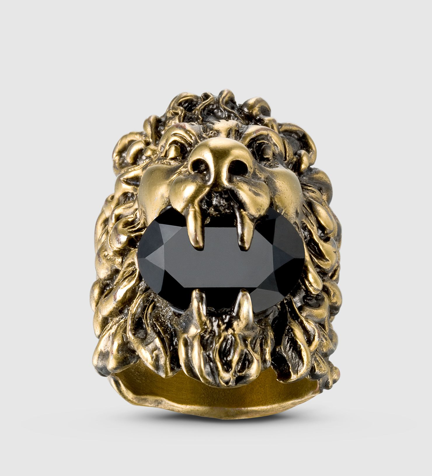 5a5cf93d6 Lion Head Ring with Crystal | Rings, Bracelets and Necklaces. in ...