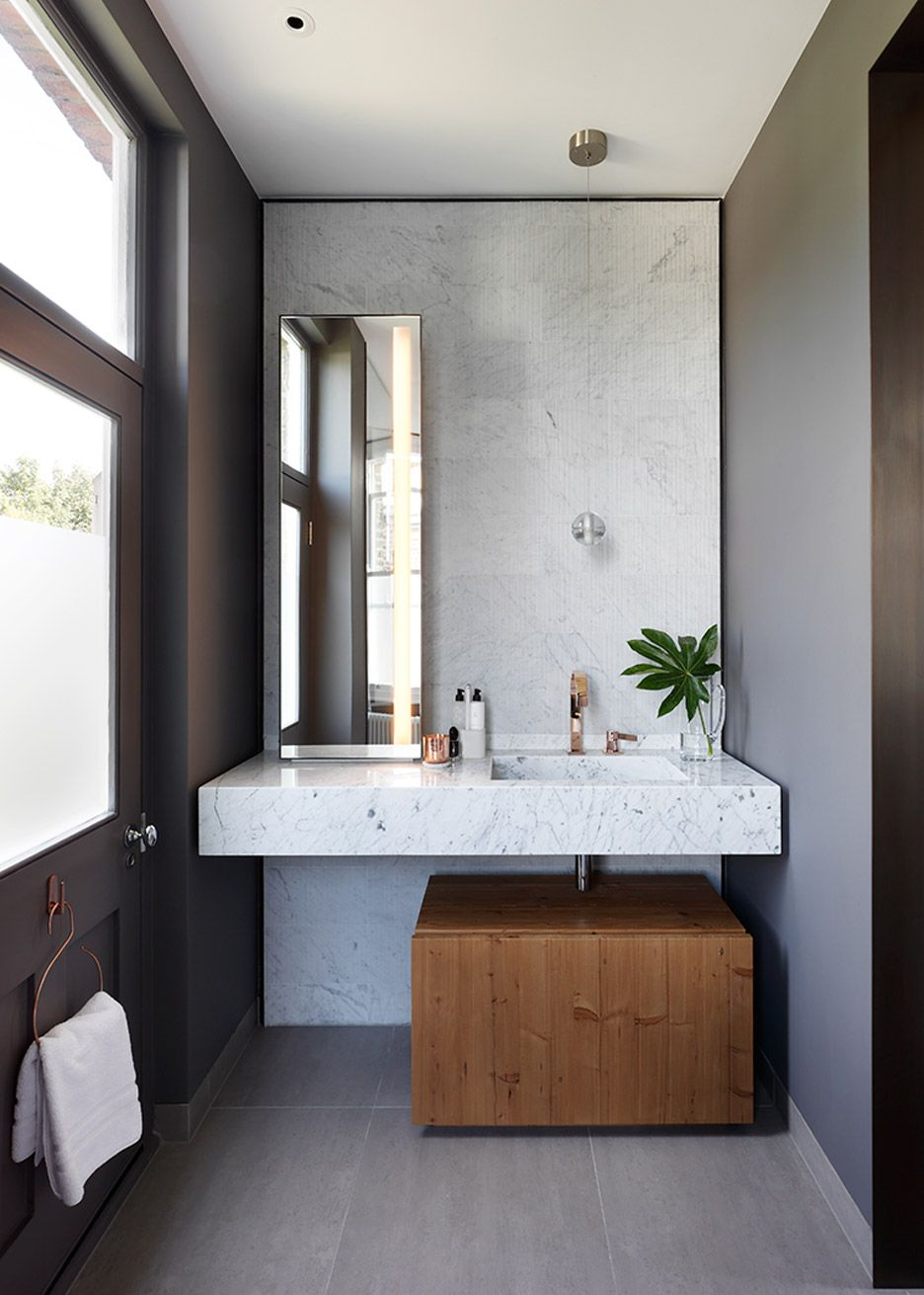 Bathroom designs Bespoke joinery and minimal materials