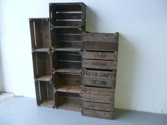 Timber orange boxes