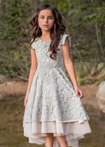 8e83793f744a8 Jacqueline Dress in Silver Peony by Joyfolie | Boutique Girls ...