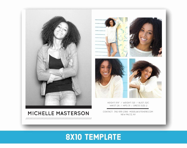 Free Comp Card Template Photoshop Inspirational Customizable Digital Model P Card 8x10 Fashion Forward Model Comp Card Card Templates Free Card Template