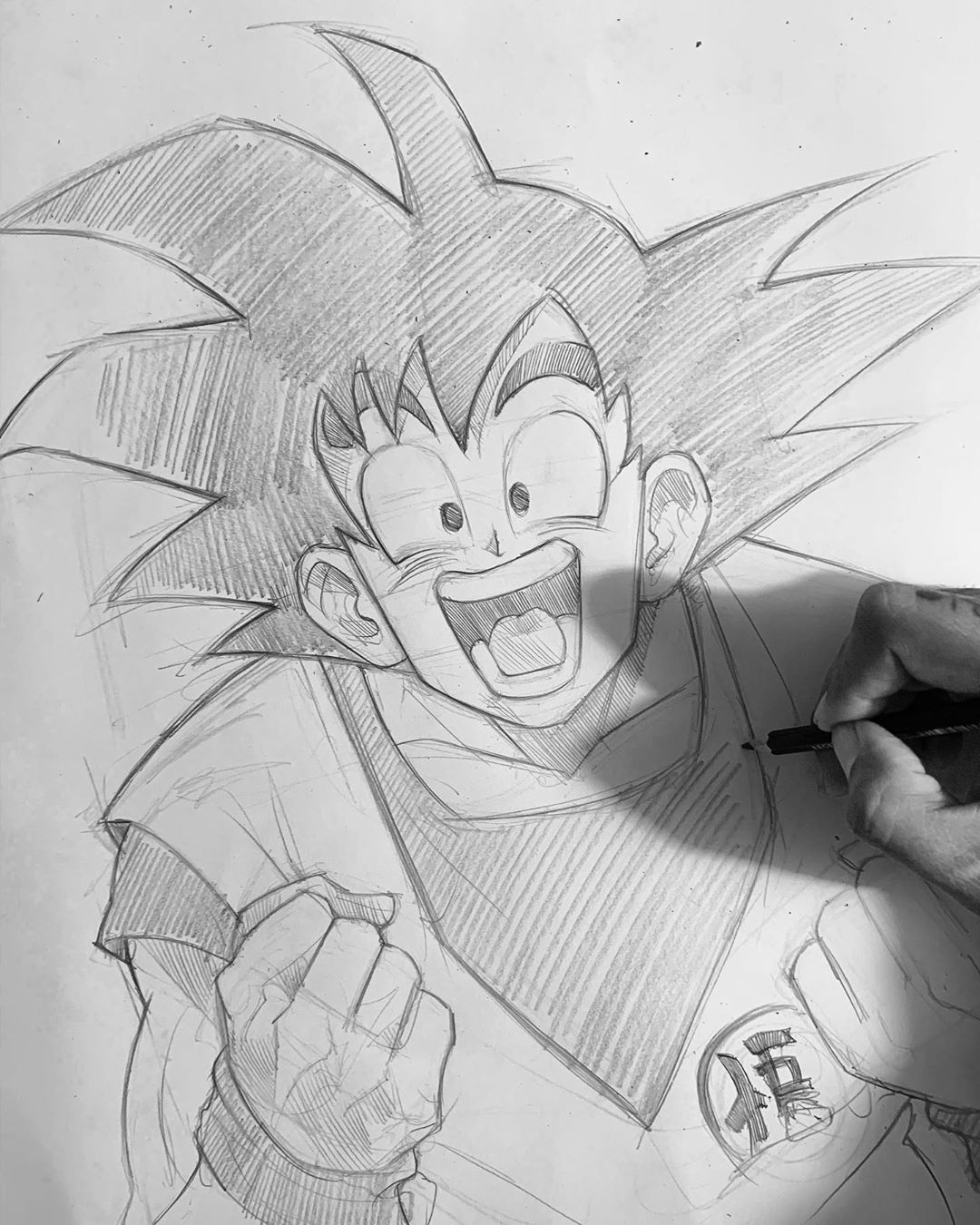 Pencil Sketch Artist Efrain Malo Drawing Artwoonz In 2020 Dragon Ball Art Anime Drawings Sketches Dragon Ball Wallpapers