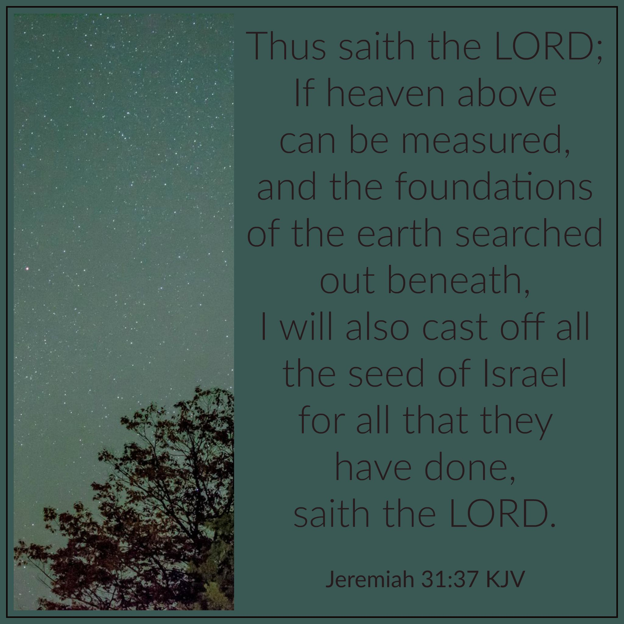 Image result for Jeremiah 31 37