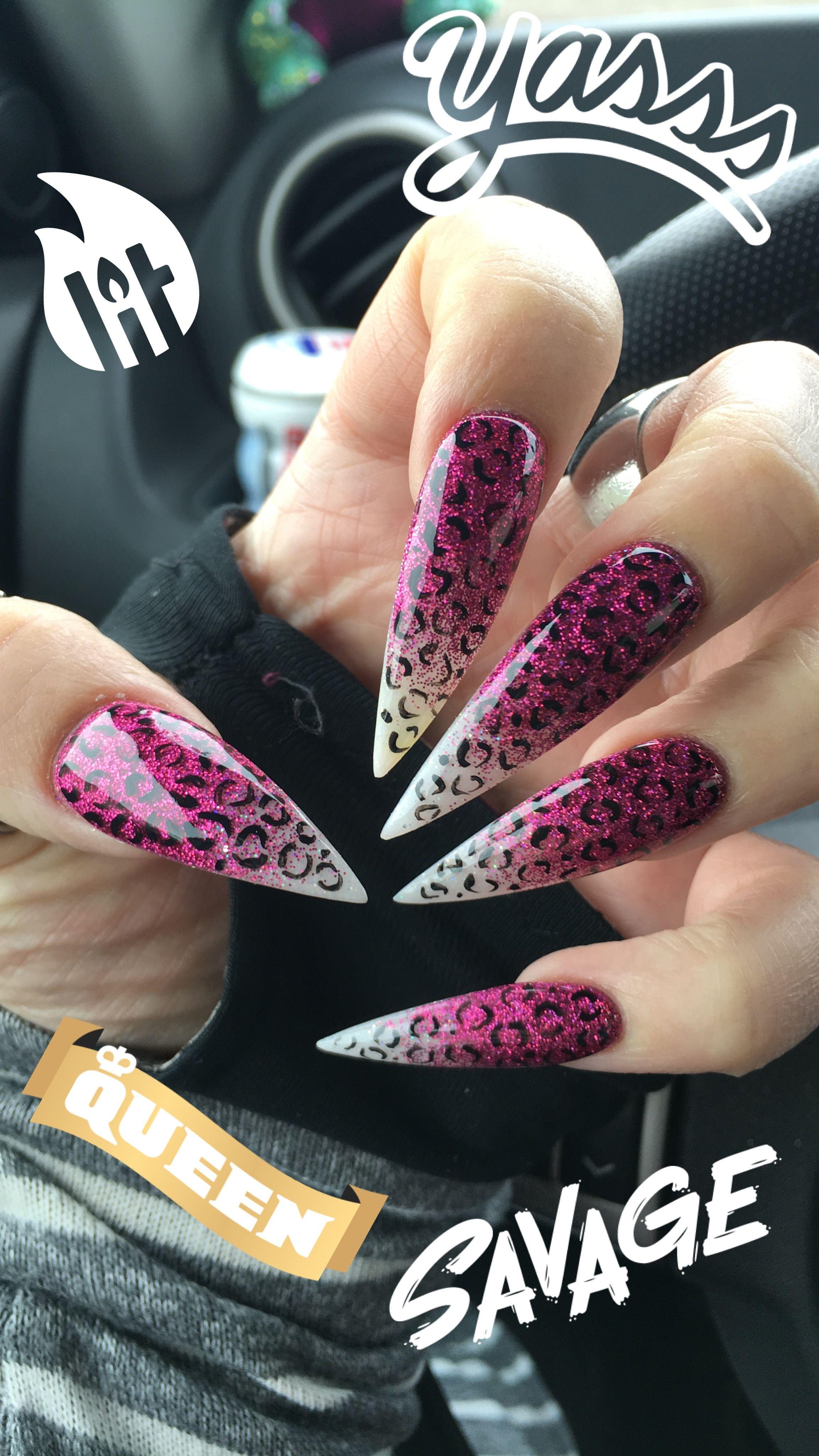 These Stilettos With Cheetah Nail Art Rockstiletto Nailart