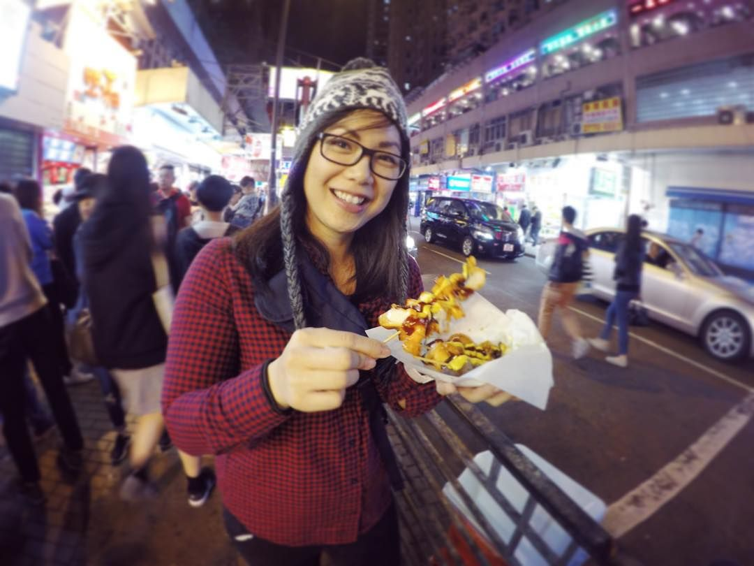 Eating street food in Hong Kong (while delicious) is a roll of the diarrhea die sometimes. Here I am taking a gamble with some octopus and duck gizzards  #fitngeeky #fitngeekyHK #travel #food #nomad #hongkong by superlee7