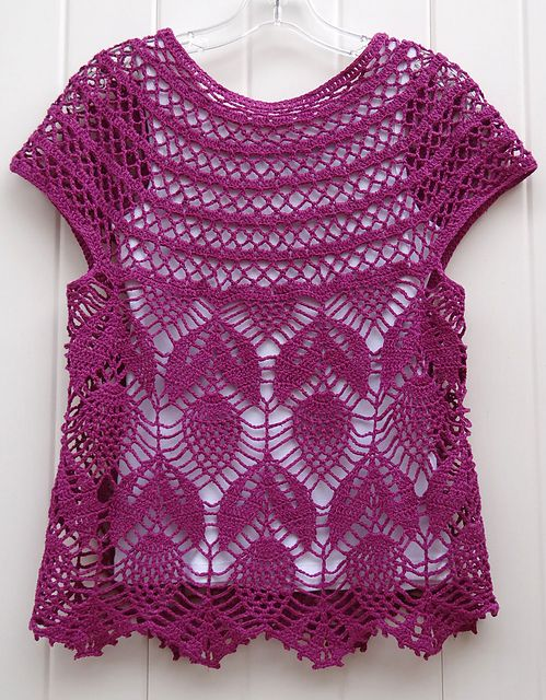 Ravelry: Project Gallery for Jamie - short sleeve vest pattern by Vicky Chan