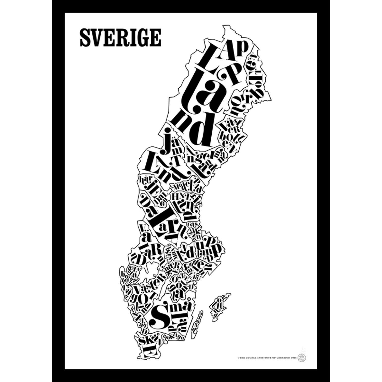 Sverige Kort Plakat Tgioc Plakater Kort Og Sverige