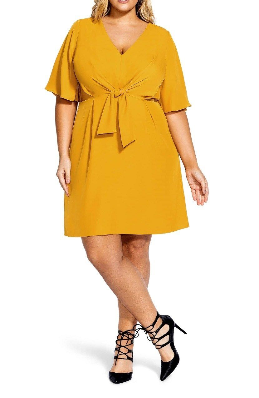 bff4a36eb80 Plus Size Yellow Cocktail Dresses With Sleeves - Find Your Perfect ...