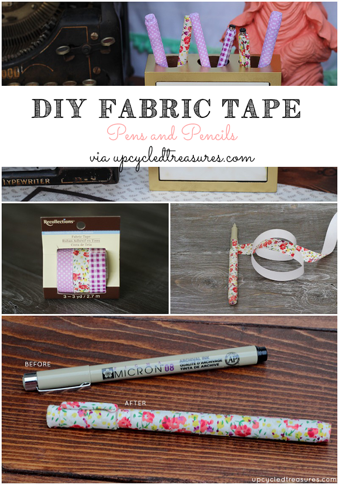 DIY Fabric Tape Pens #fabrictape