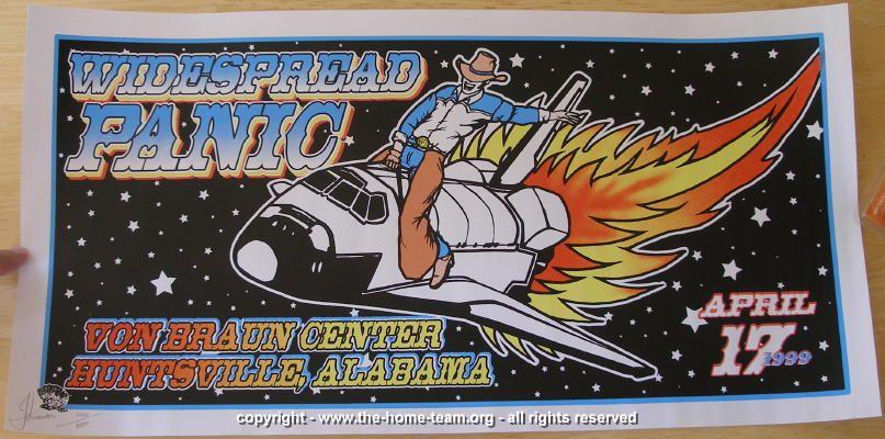 1999 Widespread Panic - Huntsville Concert Poster - JT Lucchesi